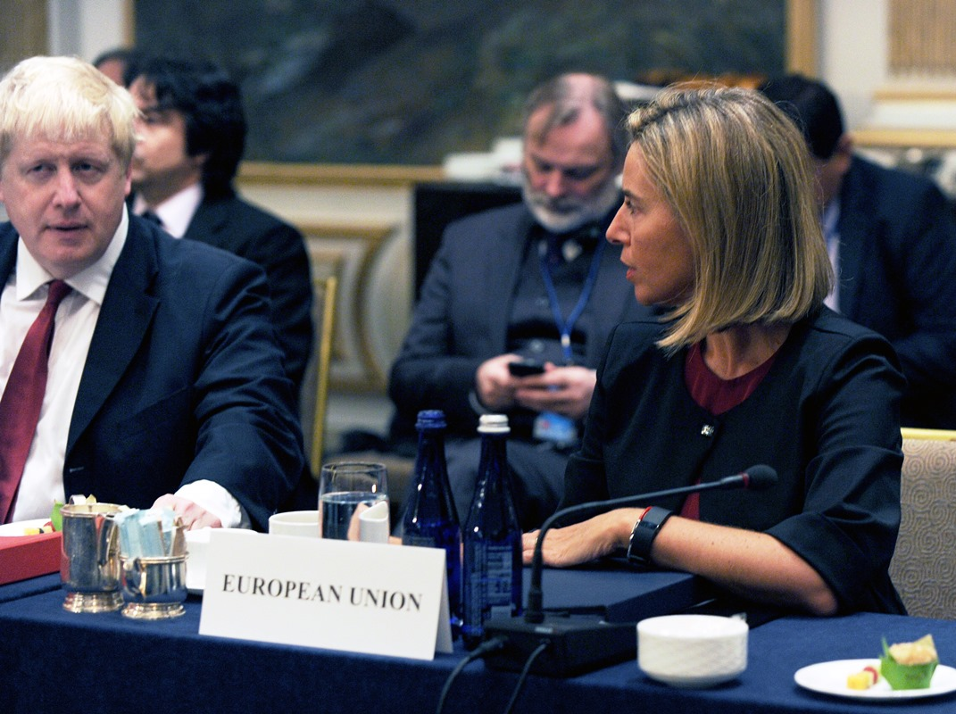 Boris Johnson, Federica Mogherini.