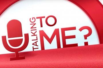 """Das in den Farben rot und weiß gehaltene Logo der Talksendung """"U Talking to Me?"""""""