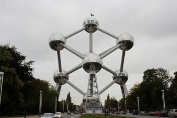 Bild des Atomiums in Brüssel.