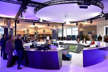 """Bild von der Aufzeichnung der Talksendung """"Citizens Corner"""" im Europaparlament in Brüssel."""