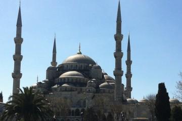 Bild der Blauen Moschee in Istanbul.
